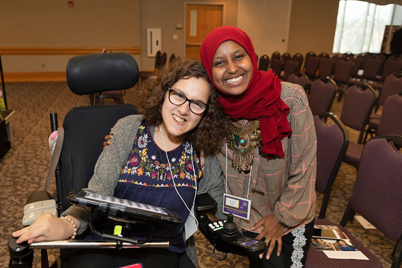 St. Kate's honors students Zaynab Abdi and Alma Silver